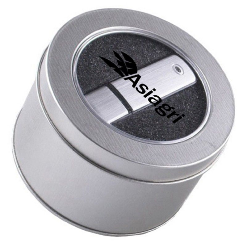 Wholesale Transparent Round USB Metal Box