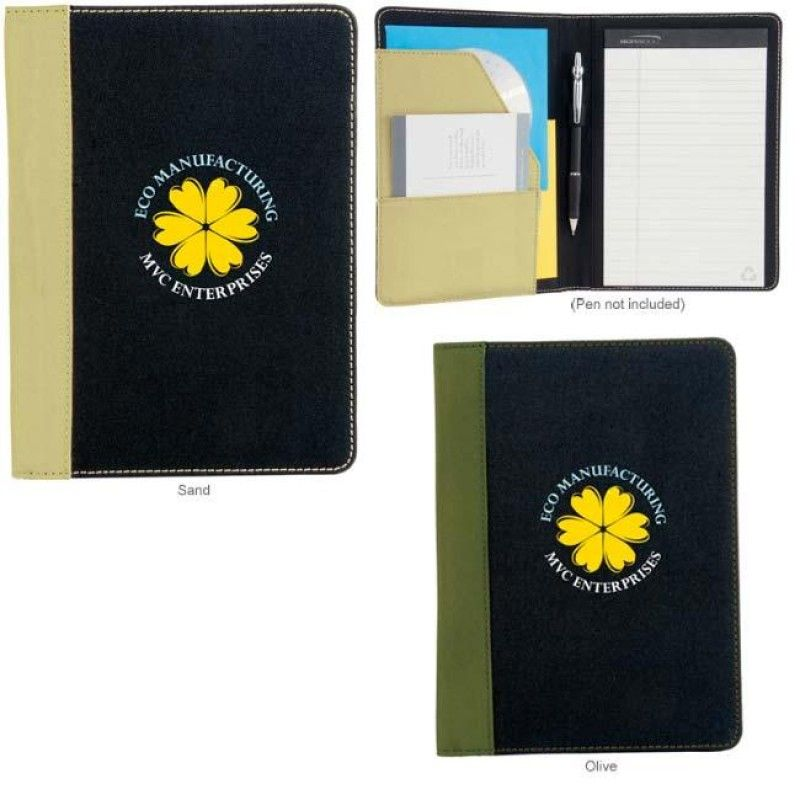 Wholesale Berkeley Recycled Jr. Padfolio-[NW-91852]