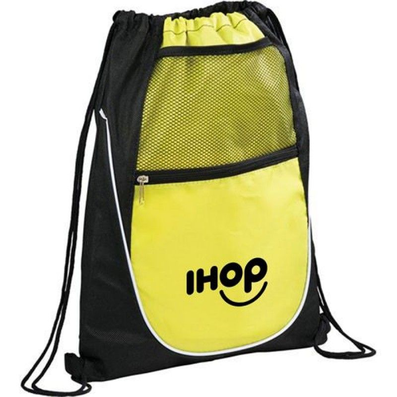 Wholesale Net Pocket Zipper Personalized Drawstring Backpack