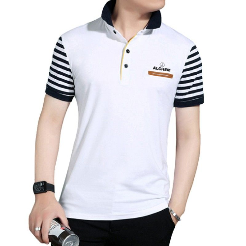 Wholesale Slim Fit Striped Short Sleeve T-Shirt