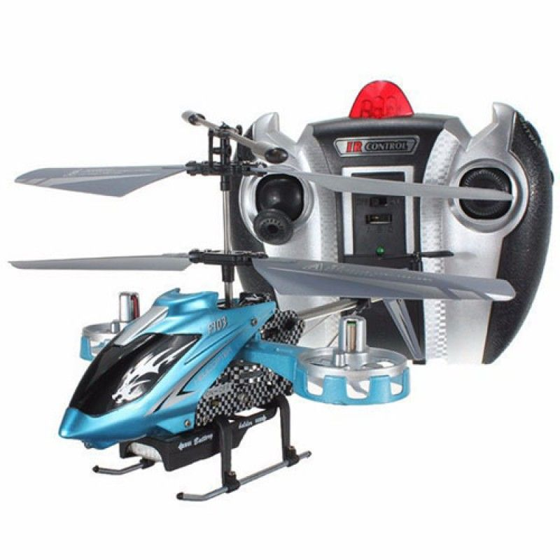 Wholesale 4CH 2.4G RC Helicopter Remote Control Mini Metal Gyro