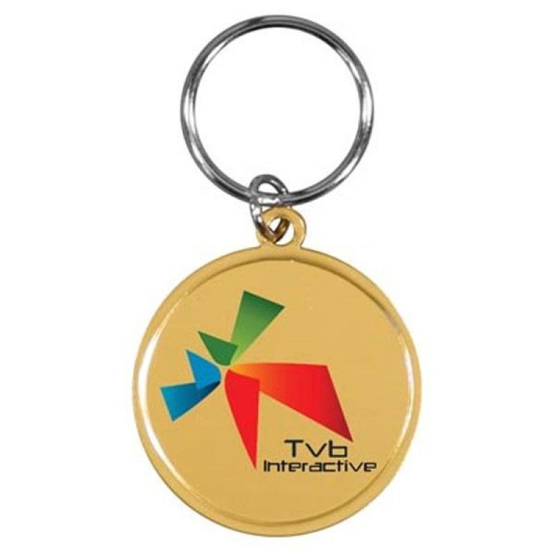 Wholesale Full Color Round Metal Like Key Tag-[AR-25002]