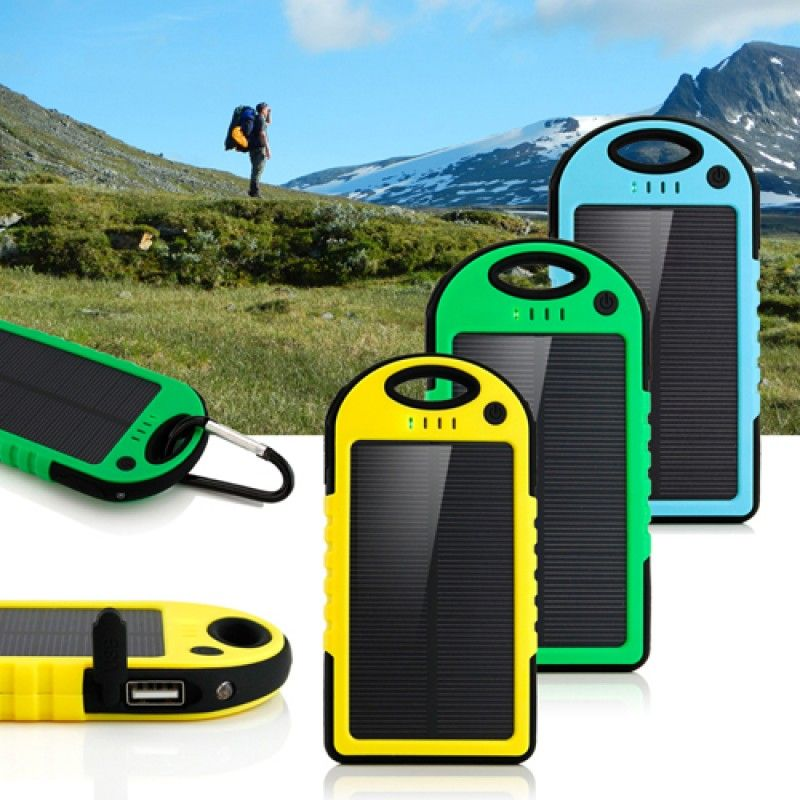 Wholesale 5000mAh Solar Charger Power Bank