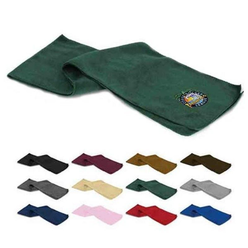 "Wholesale Embroidered Fleece Scarf (9"" x 60"")-[FP-29960E]"