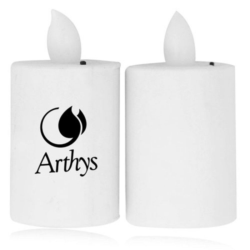 Wholesale 2Pc Set Led Flameless Flickering Candle
