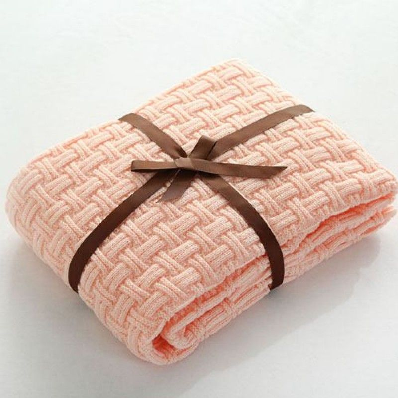 Wholesale Handmade Knitted Plaid Throws Blankets