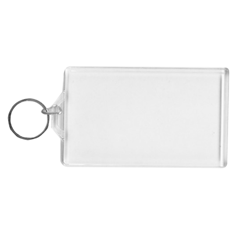 Wholesale BLANK - Snap-In Business Card Flat Key Tag-[BW-27072]