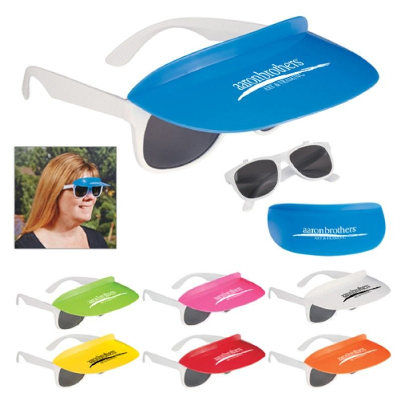Wholesale Custom Two Tone Visor Sunglasses