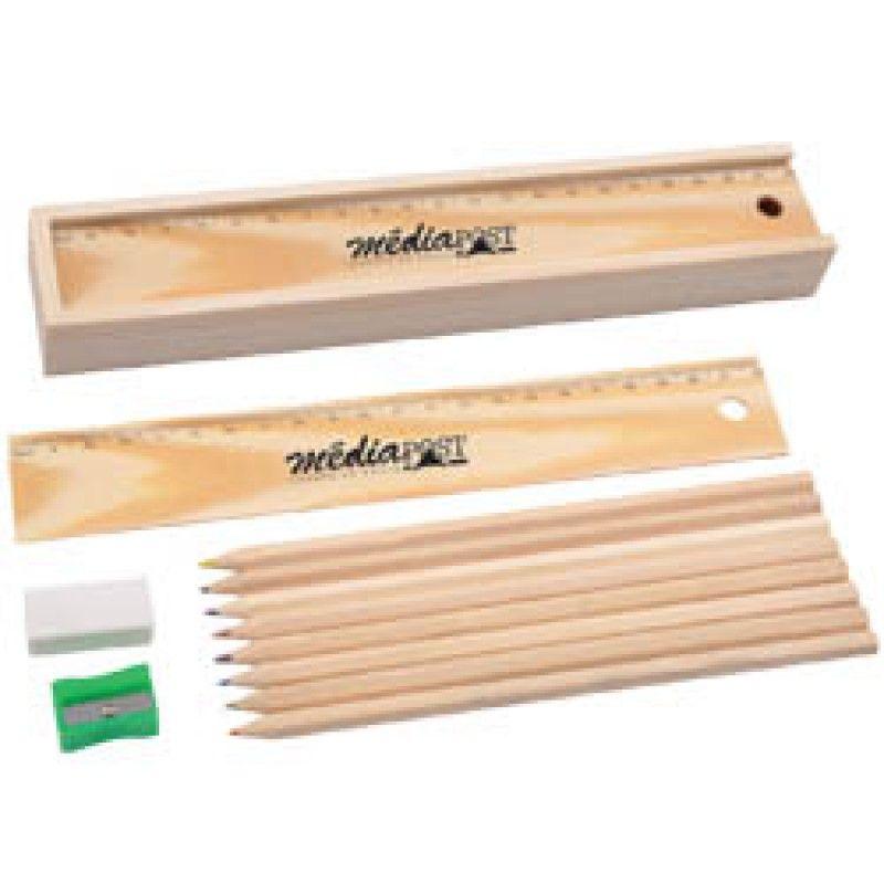 Wholesale Wooden Colourful Pencil Set
