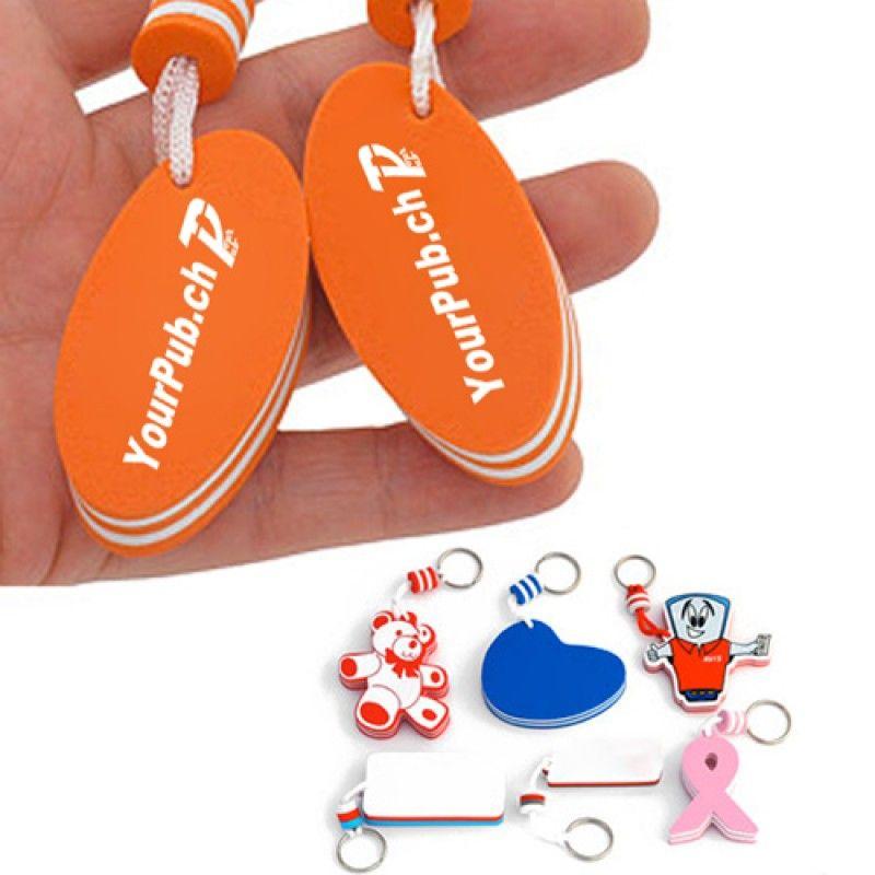 Wholesale Floating Custom Shaped Key Chains
