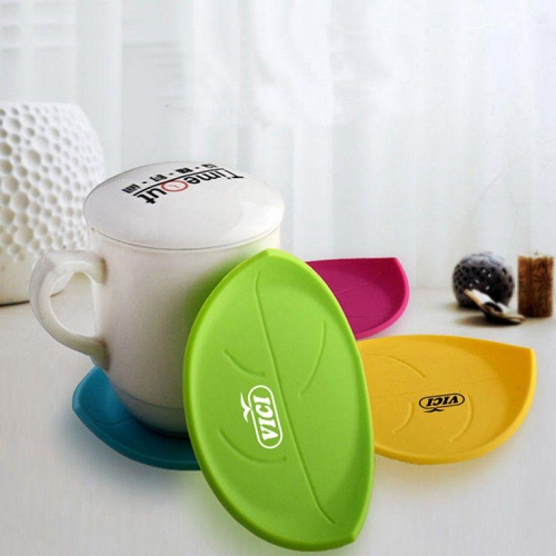 Wholesale Leaf Silicone Coasters