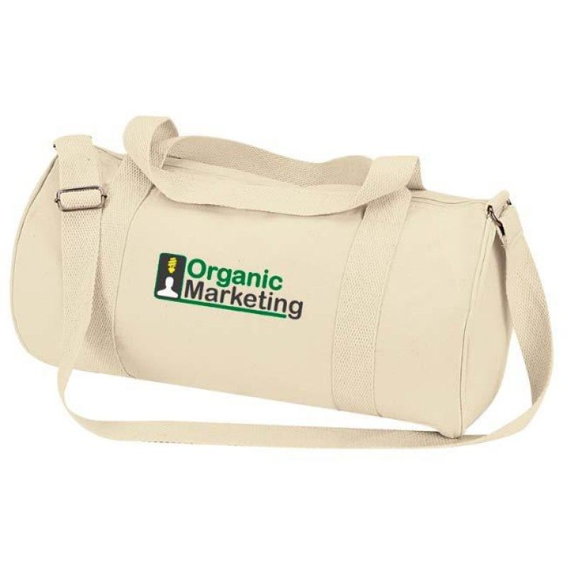 Wholesale Organic Cotton Barrel Duffel-[NW-91240]