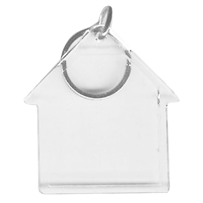 Wholesale BLANK - Snap-In House Flat Key Tag-[BW-27074]