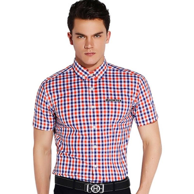Wholesale Lightweight Short Sleeve Plaid Striped Shirts