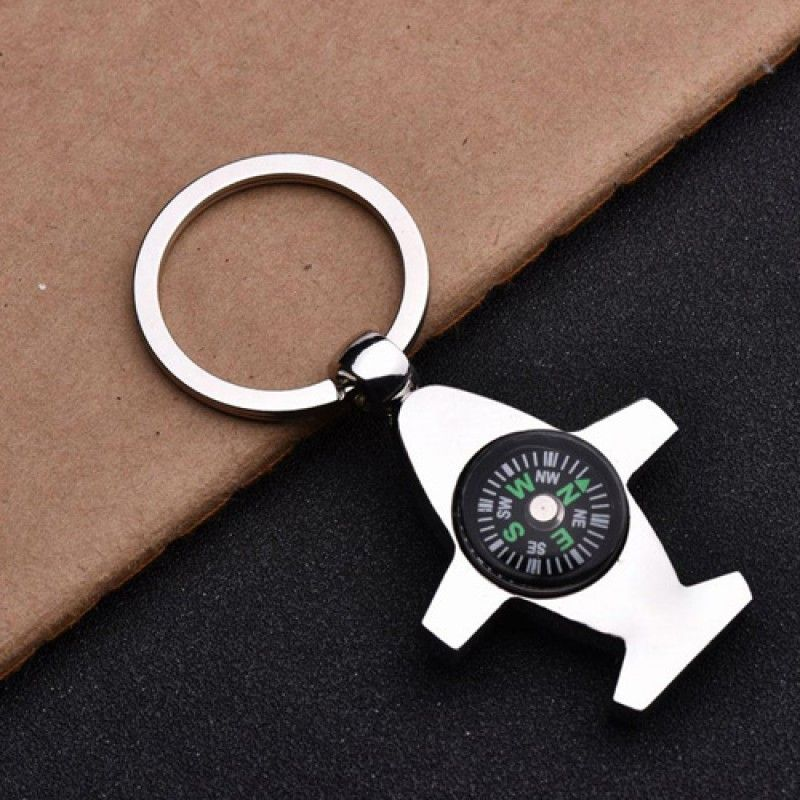 Wholesale Plane Shaped Compass Keychain
