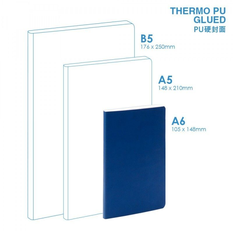 Wholesale PU A6 Soft Cover (glued) Notebook