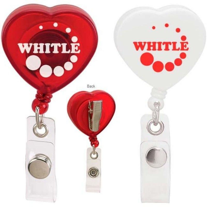 Wholesale Caring Heart Retractable Badge Holder-[NW-91927]