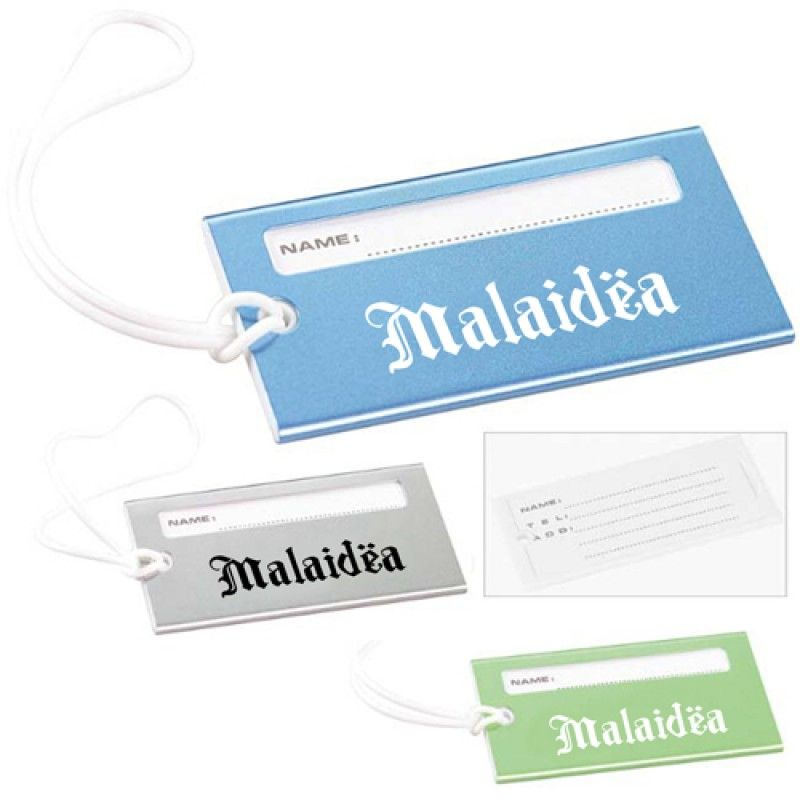 Wholesale Bright Metallic Luggage Tag