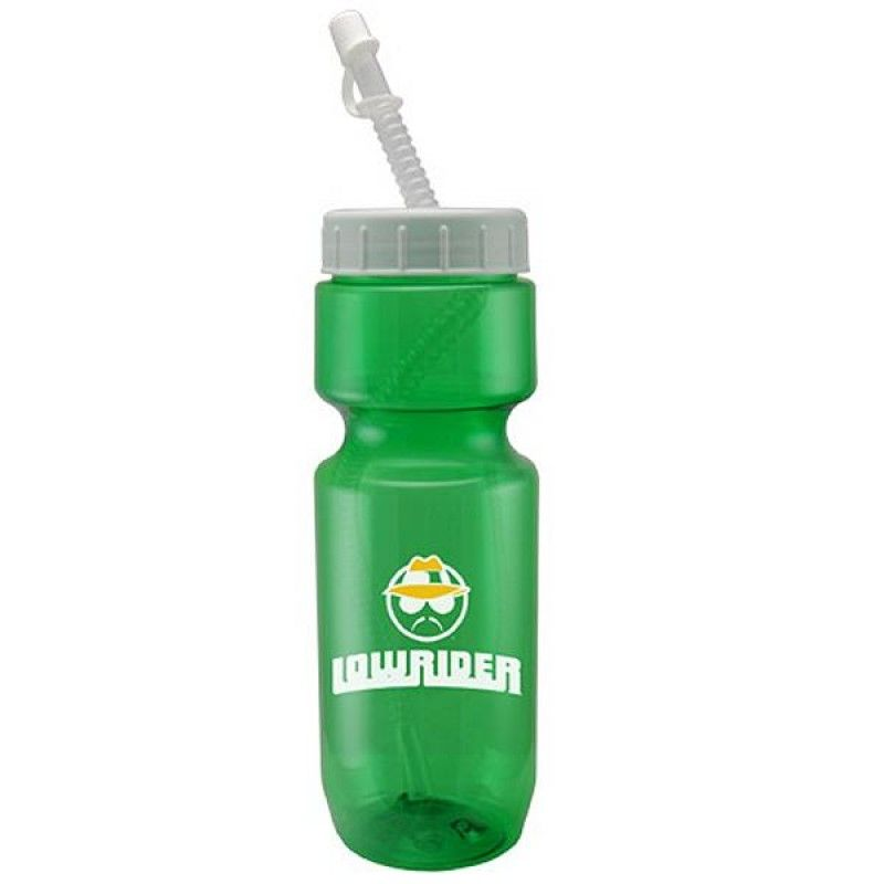 Wholesale 22 oz. Translucent Bottle w/Straw Tip Lid-[CP-28025]