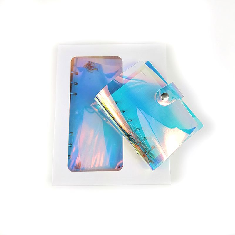 2019 fashion new product promotion six ring binders laser pvc diary cover
