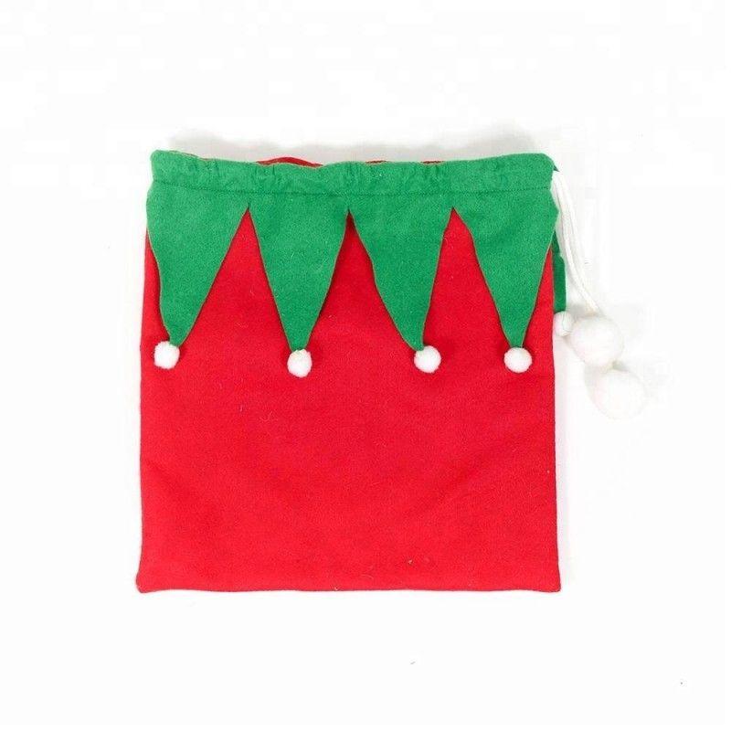 Holiday wholesale christmas santa sacks felt gift bags