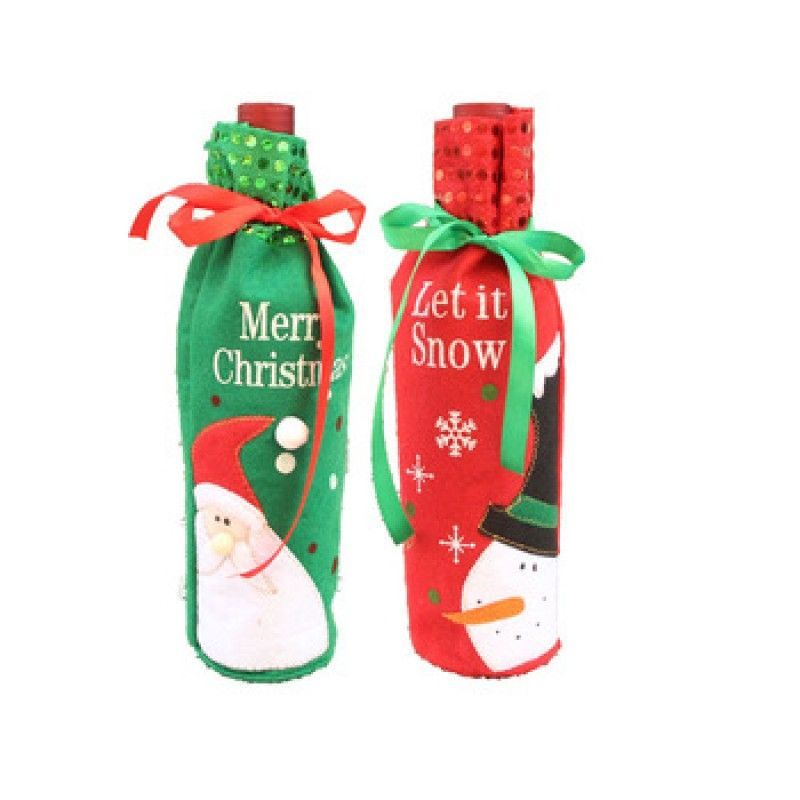 christmas shining wine bottle cover unique trendy gift