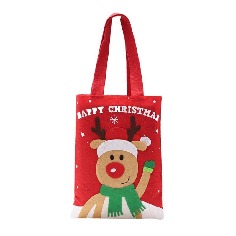 Promotional customized recycle pp shopping christmas non woven bag