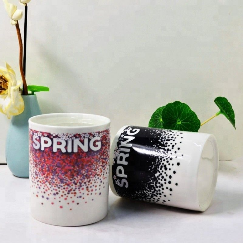 New promotion item 2019 magic ceramic color changing mug for wedding souvenir