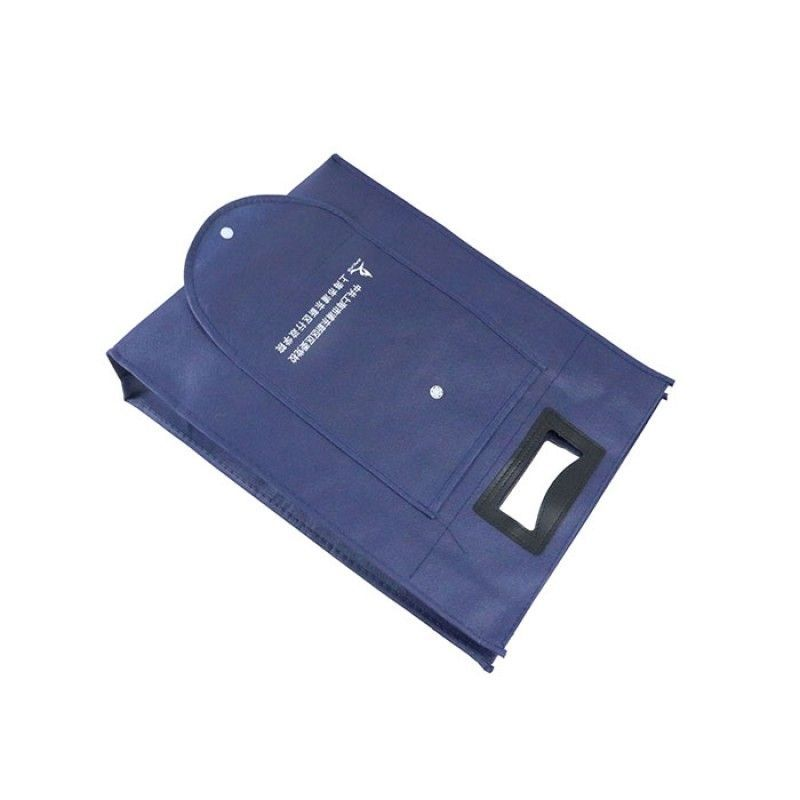 New Product Promotion Die Cut Handle Foldable Non Woven Bag With Custom Logo