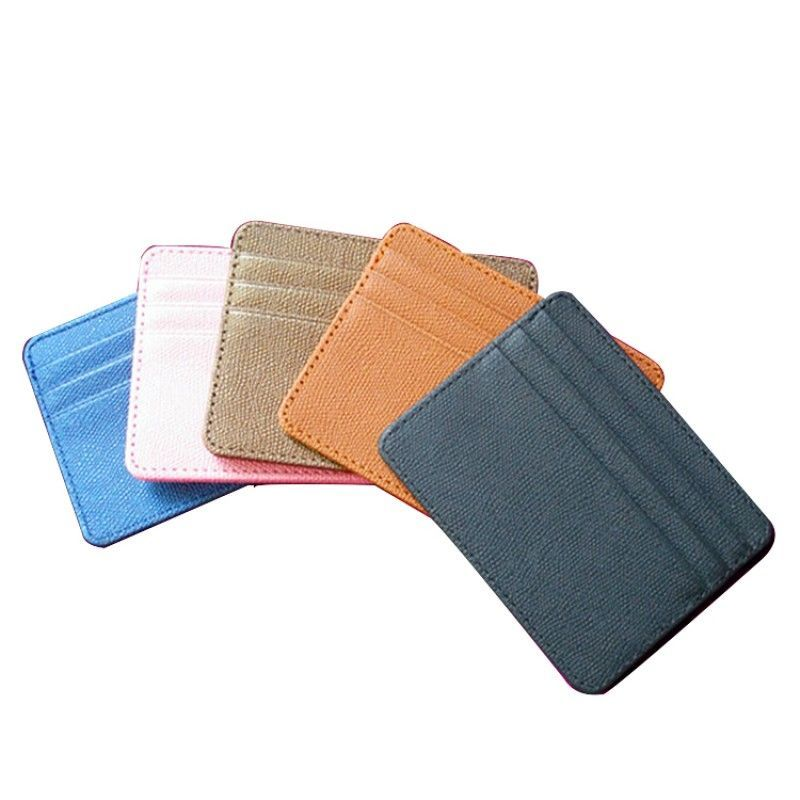Natural Leather Mini Slim Wallet Women Useful Multi Card Wallets Small Purse