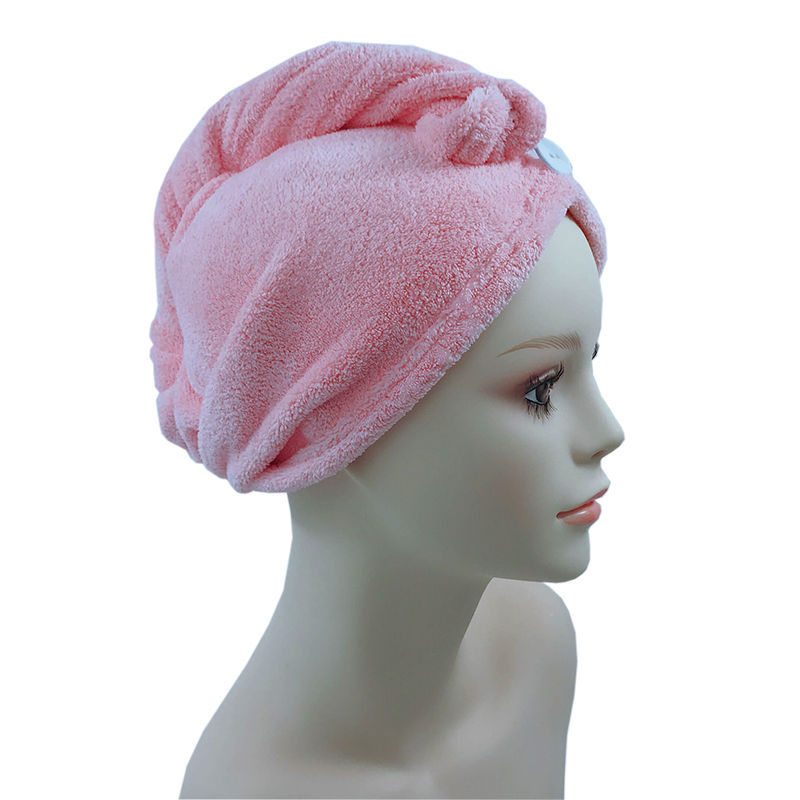 Free shipping 100% microfiber turban hair wrap towel