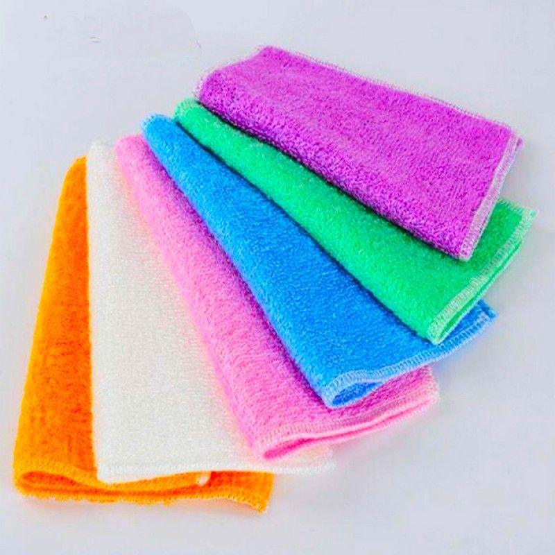 Anti-grease Dish Cloth Bamboo Fiber Washing Towel Magic Kitchen Cleaning Wiping Rag