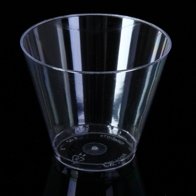 Fashion promotional 9 oz PS clear disposable plastic drinking cup