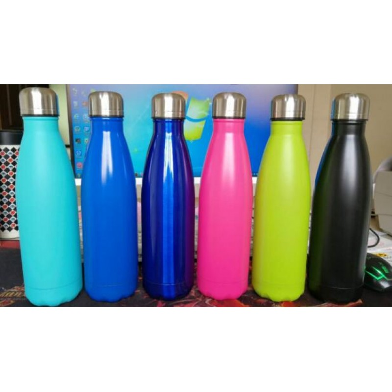 coke bottle 304 stainless steel vacuum water bottle 500ml large capacity