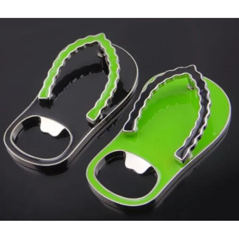 Customized Metal Flip-Flops Keychain Bottle Opener with Soft Enamel