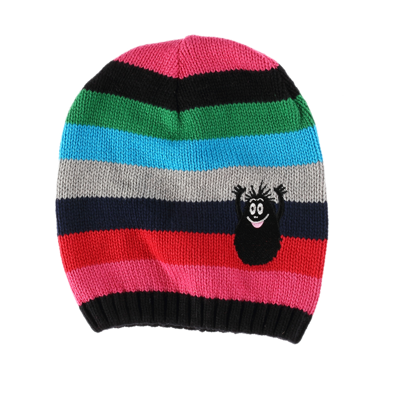 Soft Fashion Cap Unisex Knit Winter Striped Beanie for children kids baby