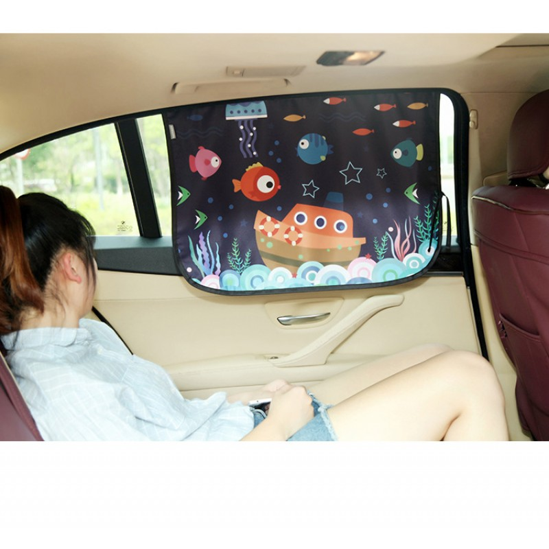 various style retractable car side window fabric sunshade