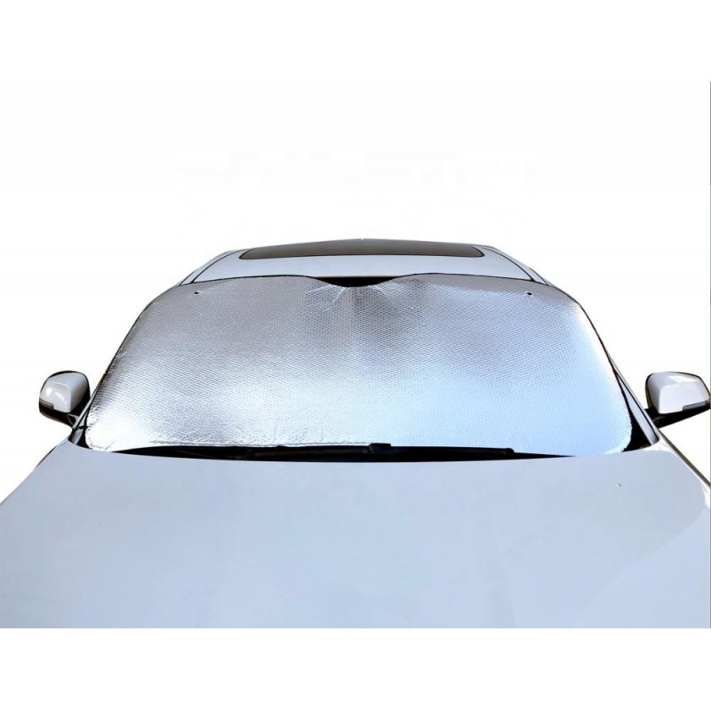 Silver Aluminium Reflective PE Bubble Car Windshield Sunshade