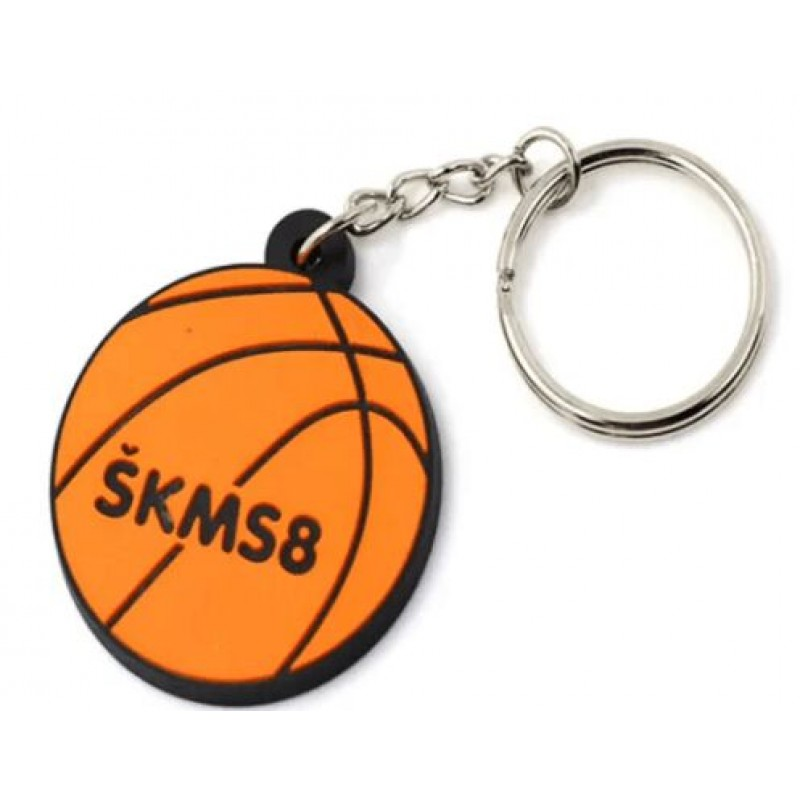 Personalized PVC Basketball Keyring Maker Custom Football Basketball Key Chain
