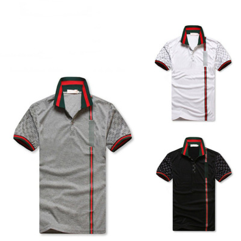 Men's polo shirts with short sleeves and lapels