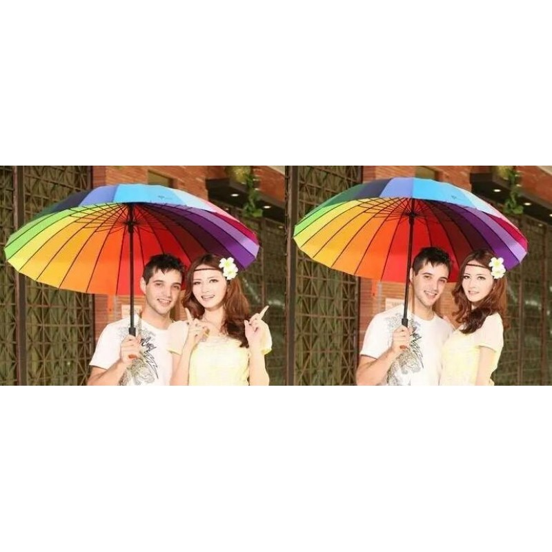 24K Color Rainbow Fashion Umbrella