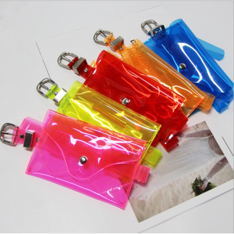 2019 wholesale chic girls pvc fanny pack hologram waterproof fanny pack mini pvc waist bags