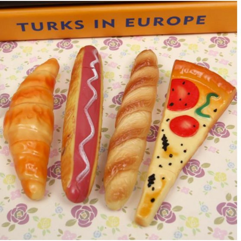 New ball-point pen creative Pizza hot dog bread ballpoint craft pen