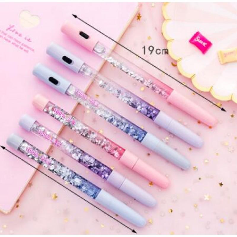Lovely Fairy Stick Shining Drift Sand Glitter Crystal Ballpoint Pen