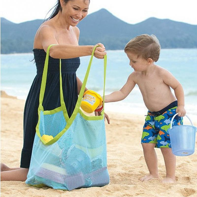 Hot Mom Baby Beach Bags Big Size Women Kids Mesh Bag Messenger Bags Toy Tool Storage Handbag Pouch Tote
