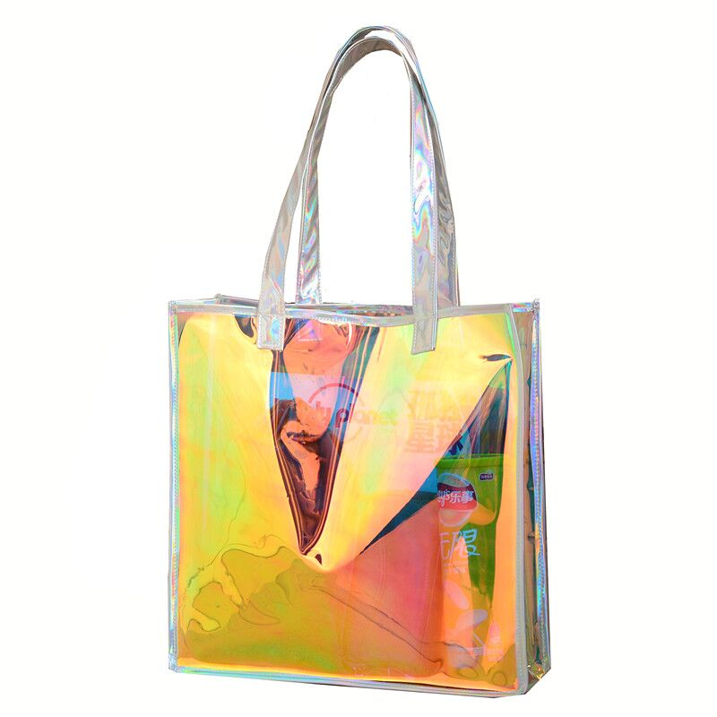 Beach transparent bag woman waterproof laser clear tote bags