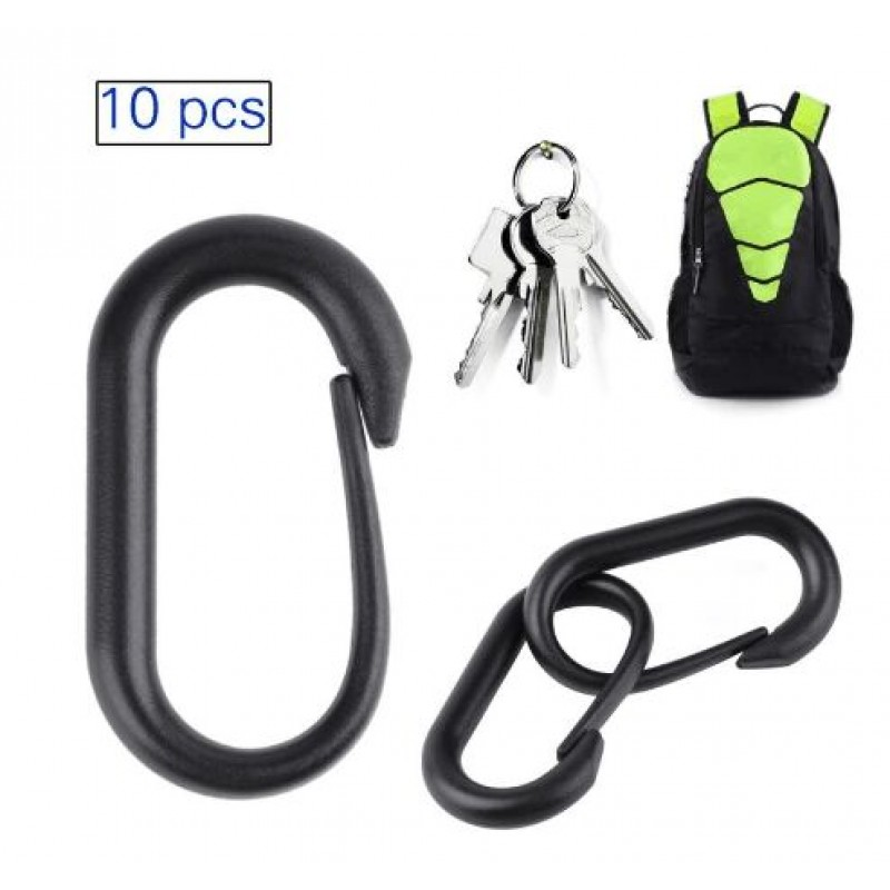 10pcs/set Carabiner Buckle Keychain