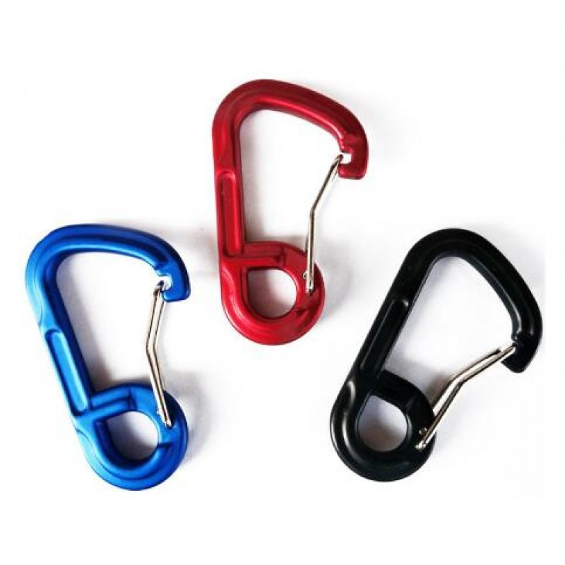 Promotion Aluminum Alloy Carabiner Camping Tool Outdoor Key Chain Clip Travel Carabiner