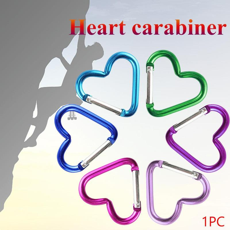 heart-shaped aluminum alloy carabiner outdoor