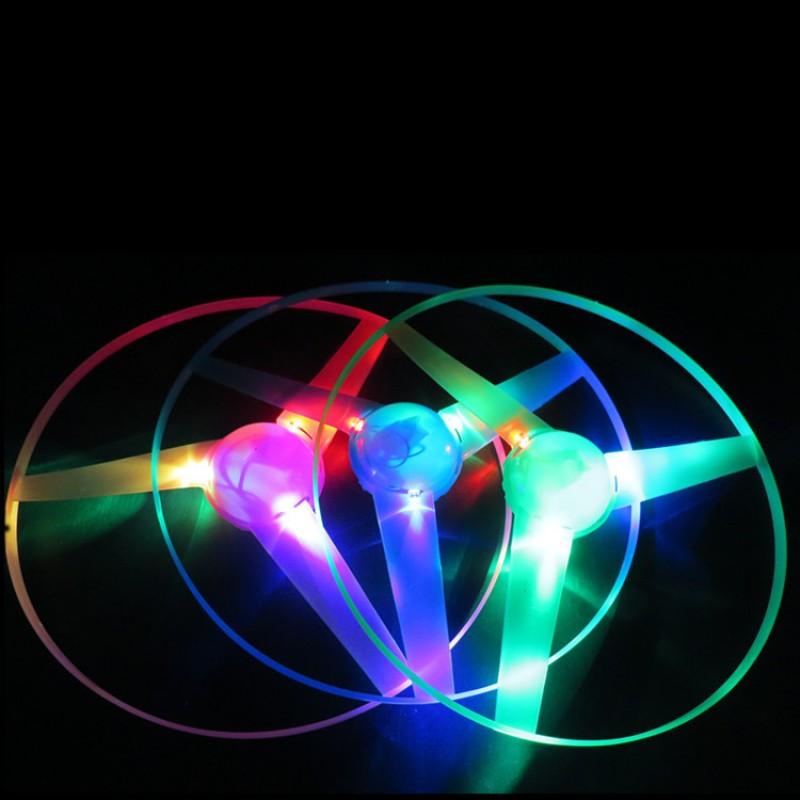 Shining Flying Saucer Children's Toys Wholesale UFO Ribbon Frisbee